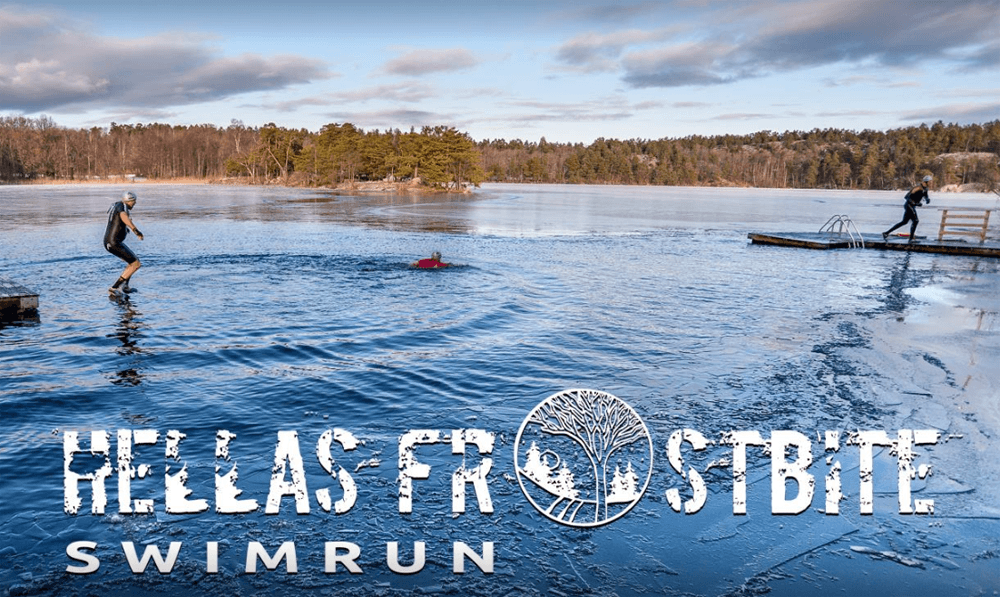 Frostbite swim run